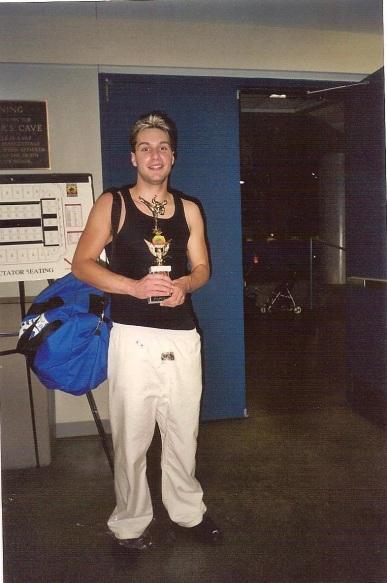 Chris at martial arts studio