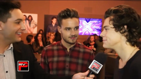 Chris interviewing Harry Styles