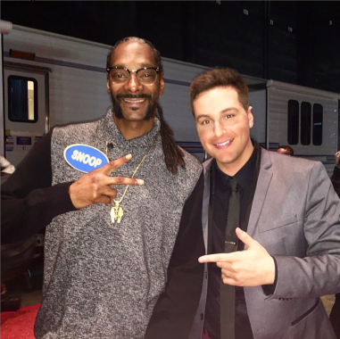 Chris with Snoop Dogg
