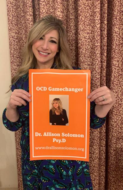 Allison Solomon at an OCD event